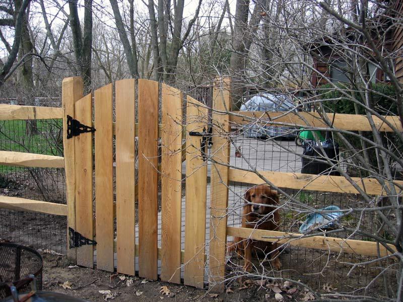 Gate for split rail