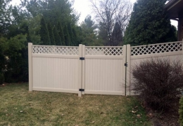 Almond New Lexington with Lattice and Gate