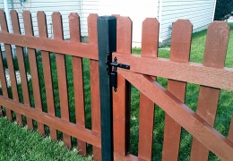 Stained Dog Ear Picket with Gate
