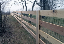 4-Rail Ranch Rail with Liner