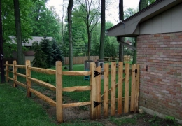 Split rail walk gate